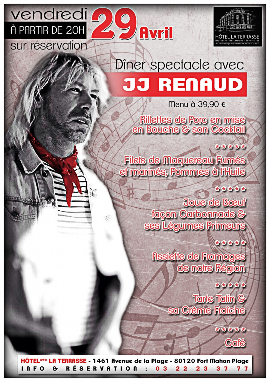 Diner spectacle avec JJ Renaud
